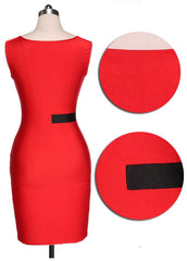 Celebrity Patchwork Women's Slim Bodycon Fitted Dress - O Yours Fashion - 6