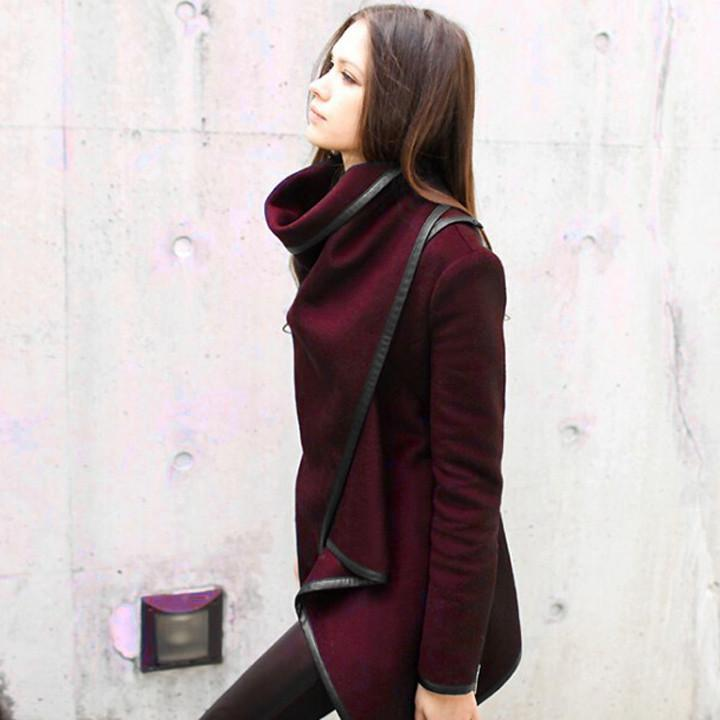 Long Irregular Thickening Woolen Overcoat - Meet Yours Fashion - 10