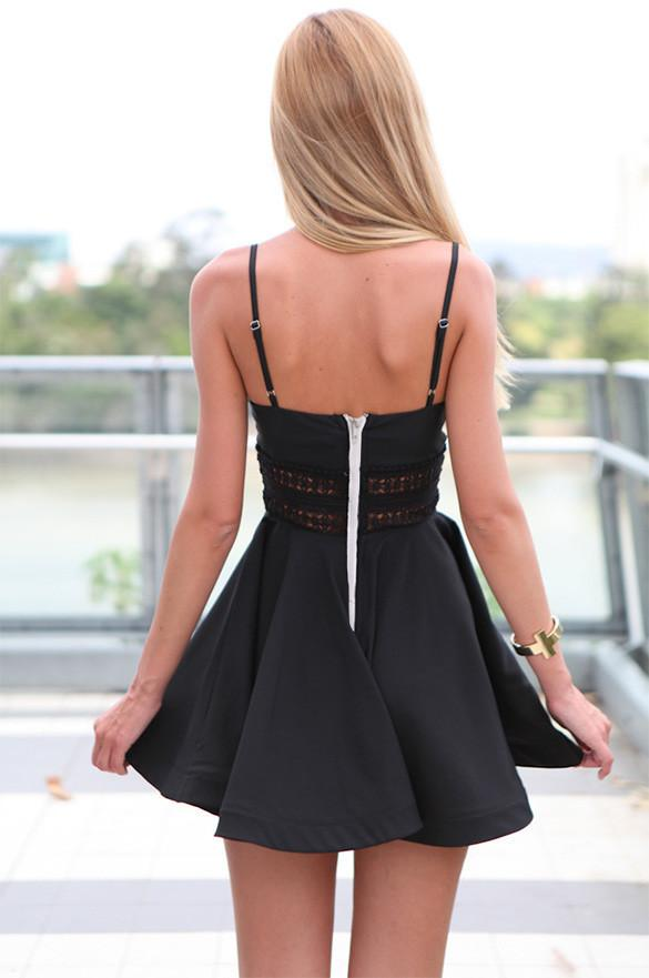 Strap V-neck Backless Mini Casual Beach Dress - Meet Yours Fashion - 5