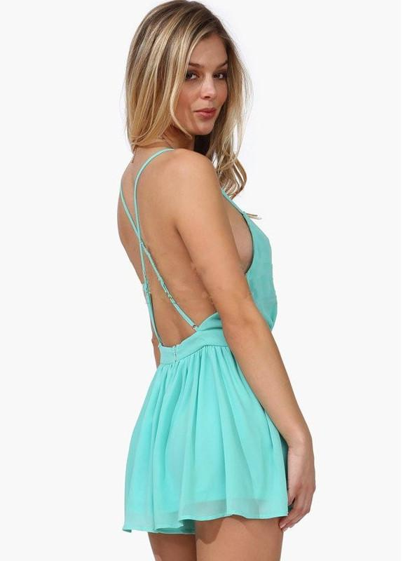 Summer Backless Mini Jumpsuits - MeetYoursFashion - 3