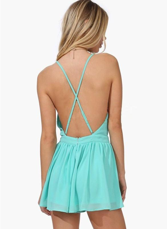 Summer Backless Mini Jumpsuits - MeetYoursFashion - 5