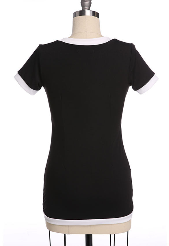 Short Sleeve Deep V-neck Short Club Dress - O Yours Fashion - 6