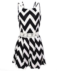 Sleeveless Stripe Tank Short Jumpsuit - Oh Yours Fashion - 6
