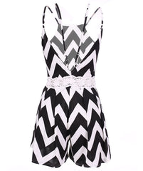 Sleeveless Stripe Tank Short Jumpsuit - Oh Yours Fashion - 4