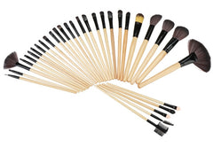 32 PCS Makeup Brush Set Cosmetic Pencil Lip Liner Make Up Kit Holder Bag - Oh Yours Fashion - 2