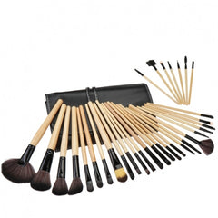 32 PCS Makeup Brush Set Cosmetic Pencil Lip Liner Make Up Kit Holder Bag - Oh Yours Fashion - 1