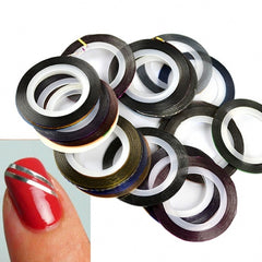 30Pcs Mixed Colors Rolls Striping Tape Line Nail Art Decoration Sticker - Oh Yours Fashion - 2