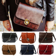 Women's Vintage Style Messenger Bag Flap Bag One Shoulder Bag - Oh Yours Fashion - 1