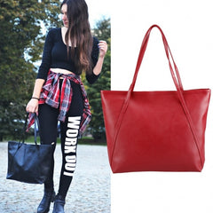 Fashion Ladies Women Synthetic Leather Bag Shoulder Bag Casual Handbag - Oh Yours Fashion - 6