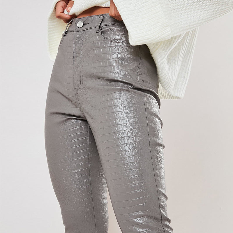 Sexy High Waist Leather Bodycon Skinny Pants