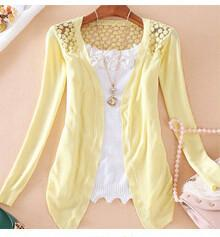 Candy Color Hollow Thin Knitting Blouse - Meet Yours Fashion - 11