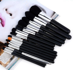 2016 High Quality New Arrival 15 Pcs Black Makeup Brushes Set Cosmetic Kits - Oh Yours Fashion - 2