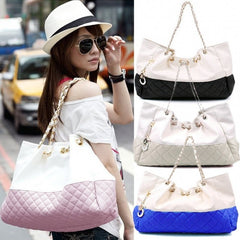 Girls' Oversized Bag Shoulder Handbag Chain Straps - Oh Yours Fashion - 1