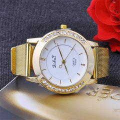 Classic Watch Women's Wrist Quartz Watch Gold - Oh Yours Fashion - 2