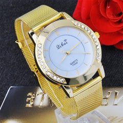 Classic Watch Women's Wrist Quartz Watch Gold - Oh Yours Fashion - 3