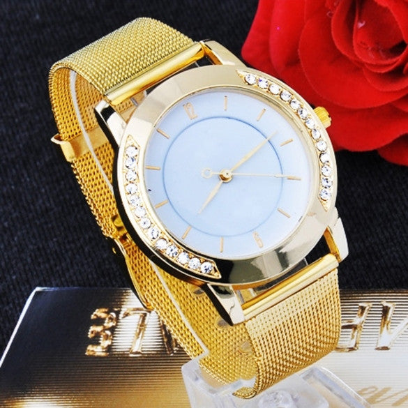Classic Watch Women's Wrist Quartz Watch Gold - Oh Yours Fashion - 1