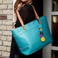 Women's Fashion Leather Cute Shoulder Bag Shopper Tote Bag Handbag - Oh Yours Fashion - 3