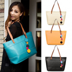 Women's Fashion Leather Cute Shoulder Bag Shopper Tote Bag Handbag - Oh Yours Fashion - 1
