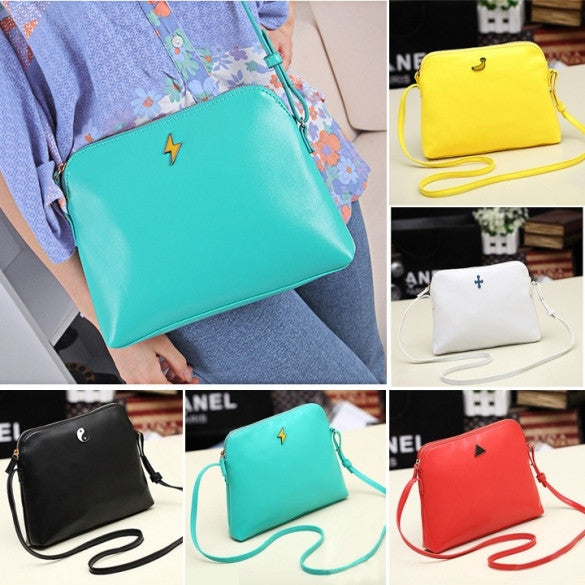 Hot Korean Women Candy Tote Handbag PU Leather Shoulder bag Cross Messenger - Oh Yours Fashion - 1