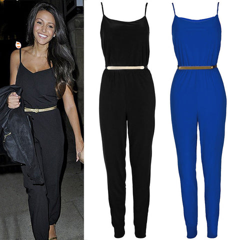 Bodycon Sleeveless Tight Waist Long Jumpsuits Playsuit