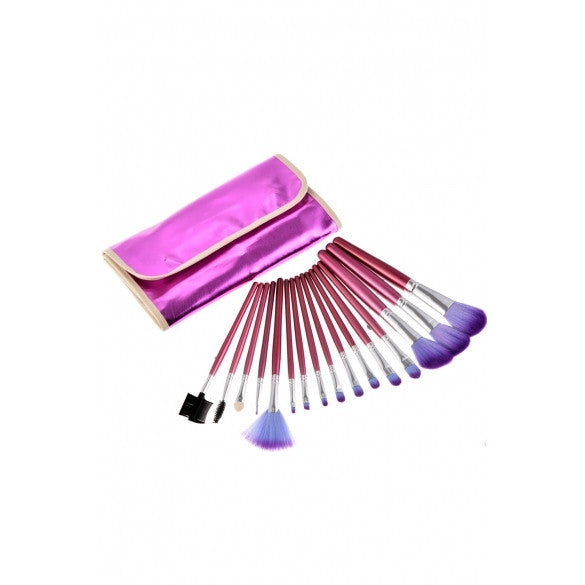 16 Pcs Professional Makeup Cosmetic Eye Shadow Powder Brush Set With Case Bag - Oh Yours Fashion - 1