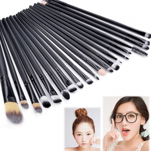 New Pro Makeup 20pcs Brushes Set Powder Foundation Eyeshadow Eyeliner Lip Brush Tool - Oh Yours Fashion