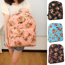 Canvas Flower Rucksack School Backpack Bag - Oh Yours Fashion - 1
