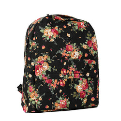 Canvas Flower Rucksack School Backpack Bag - Oh Yours Fashion - 8