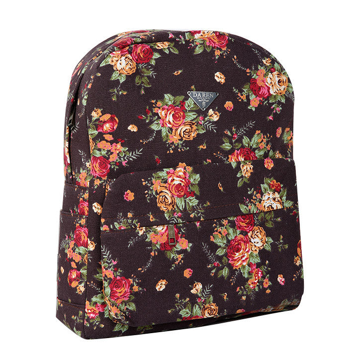 Canvas Flower Rucksack School Backpack Bag - Oh Yours Fashion - 10