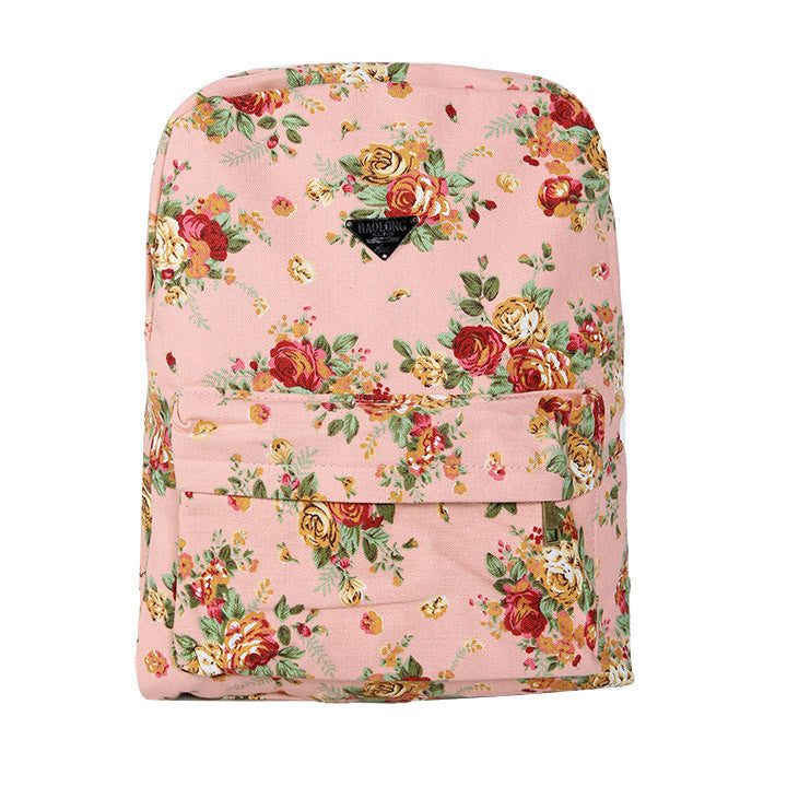 Canvas Flower Rucksack School Backpack Bag - Oh Yours Fashion - 11