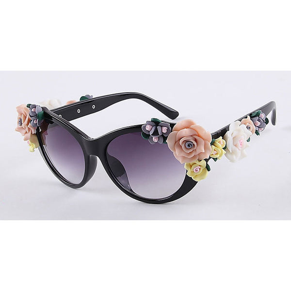 2016 Vintage Shades Women Designer Rose Flowers Sunglasses - O Yours Fashion - 2