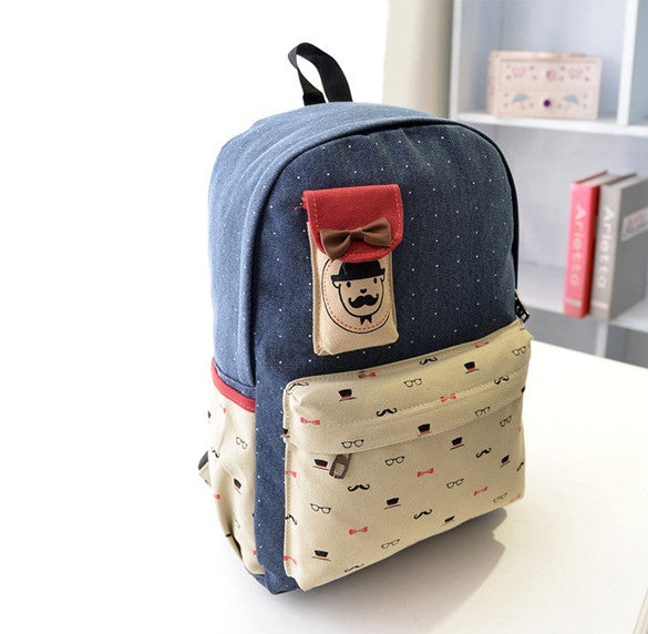Canvas Travel Shoulder School Backpack Bag - O Yours Fashion - 8