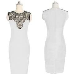Celeb Lace Sleeveless Bodycon Knee-length Dress - O Yours Fashion - 4