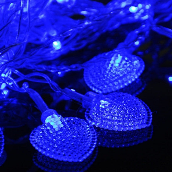 New Beautiful Colorful 128 LED String Fairy Heart Lights 3M - Oh Yours Fashion - 2