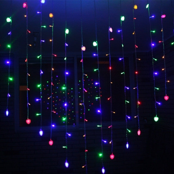 New Beautiful Colorful 128 LED String Fairy Heart Lights 3M - Oh Yours Fashion - 3