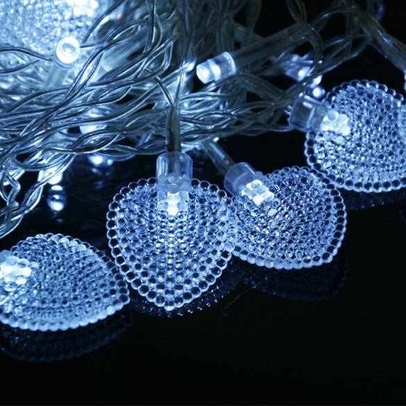 New Beautiful Colorful 128 LED String Fairy Heart Lights 3M - Oh Yours Fashion - 4