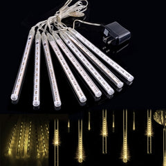 Warm White 80LED Meteor Shower Rain Tubes Snowfall Light For festival Wedding Garden Decoration - Oh Yours Fashion - 2