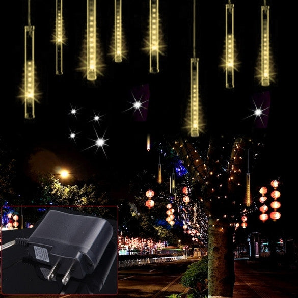 Warm White 80LED Meteor Shower Rain Tubes Snowfall Light For festival Wedding Garden Decoration - Oh Yours Fashion - 1