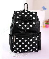 Polka Dots Bowknot Girls School Backpack - Oh Yours Fashion - 8