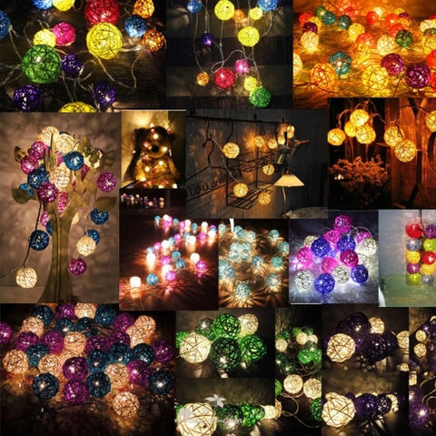 16 Ball Fairy String Lights Party Patio Holiday Wedding Bedroom Decor (Eu Plug)