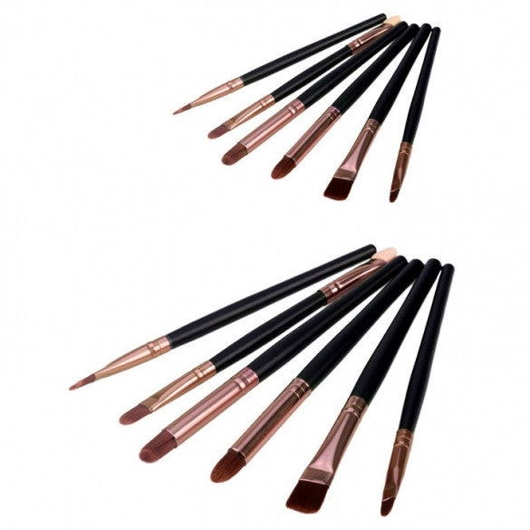 New Arrival 6 pcs Basic eye Brush Set Blend eye shadow brush blush brush Makeup Brush - Oh Yours Fashion