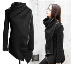 Long Irregular Thickening Woolen Overcoat - Meet Yours Fashion - 2