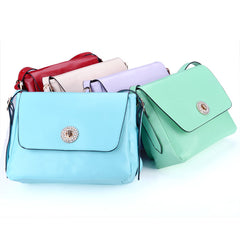 Korea Women's Sweet Style Candy Color Diamond Single Shoulder Bag Message Bag - Oh Yours Fashion - 3