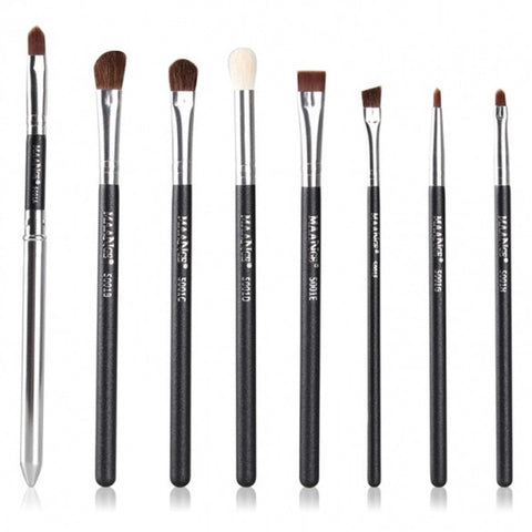 Professinal 8pcs Basic Makeup Brush Eye Brushes Set Blend Eye Shadow Angled Eyeliner Smoked