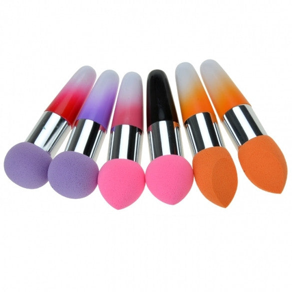 New Women Pro Makeup Cosmetic Brushes Liquid Cream Foundation Concealer Sponge Lollipop Brush 2 PCs Set - Oh Yours Fashion - 1
