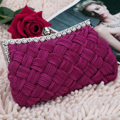 New Fashion Women's Evening Bag Shining Rhinestone Handbag Shoulder Bag Clutch Bag with Chain - Oh Yours Fashion - 5