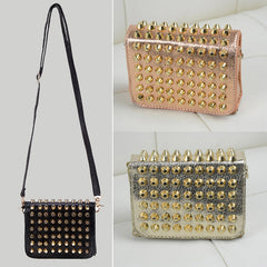 New Fashion Women Lady Girl Simple Rivet Retro Shoulder Bag Handbag Packets Bag - Oh Yours Fashion - 2