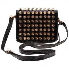 New Fashion Women Lady Girl Simple Rivet Retro Shoulder Bag Handbag Packets Bag - Oh Yours Fashion - 1