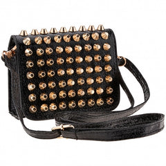 New Fashion Women Lady Girl Simple Rivet Retro Shoulder Bag Handbag Packets Bag - Oh Yours Fashion - 4
