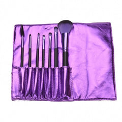 7PCS Professional Makeup Brush Set Cosmetic Brushes And Pouch Bag Case - Oh Yours Fashion - 2
